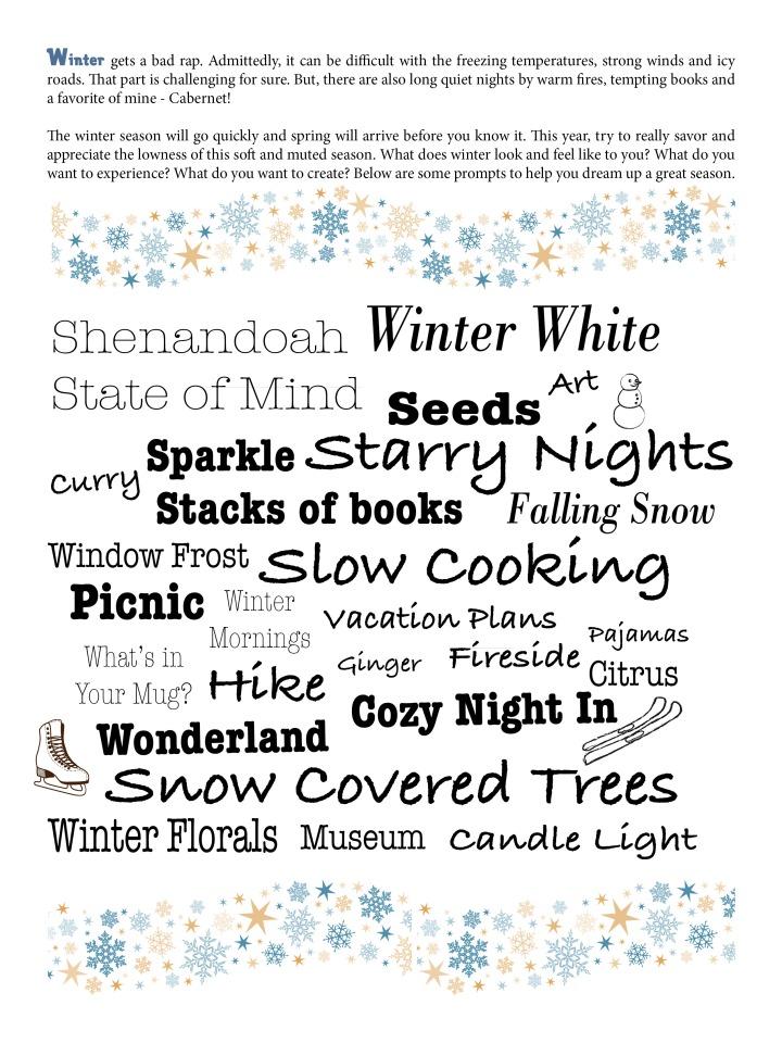 Winter Prompts